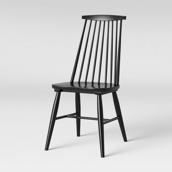 Harwich High Back Windsor Dining Chair Black Threshold