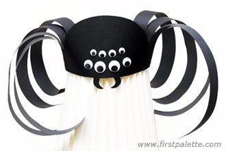 Step 14 Spooky Spider Hat craft
