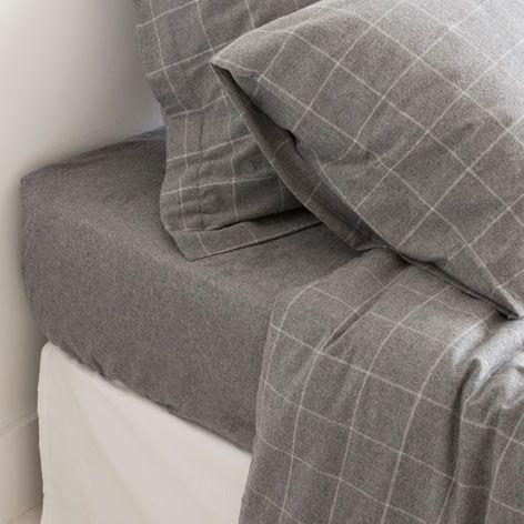GRIJZE FLANELLEN LAKENS EN SLOPEN - Lakens en Hoezen - Bed | Zara Home Netherlands