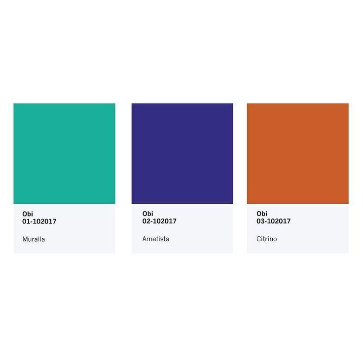 Paleta de colores de nuestra nueva colección