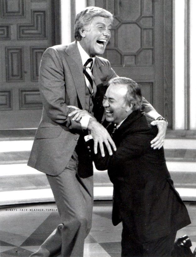 Dick Van Dyke and Carl Reiner laughing hysterically