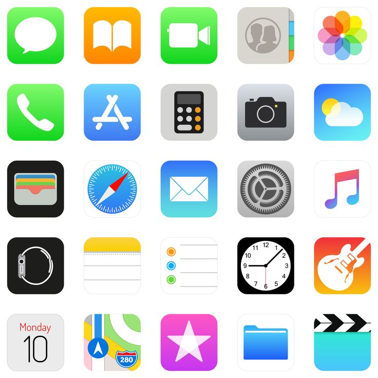 Pack icônes Apple Applications (Apps) HD⎪Vector