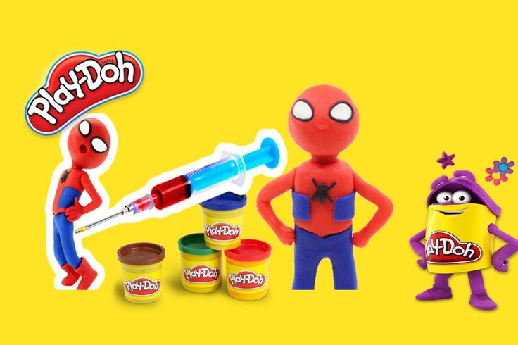 Spiderman Finger Family Song ►  Spiderman Play doh Stop Motion - Spiderm...