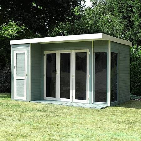 10 x 8 Waltons Contemporary Summerhouse with Side Shed (LH)