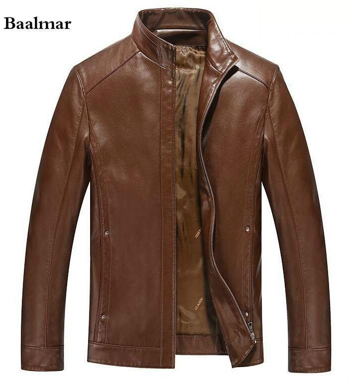 Hot ! Leather Jackets Mens 2016 New plus size M-XXXL Leather Jacket Men Black Leather Coat Men Winter Jacket Coat