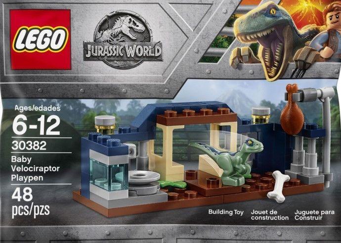 Baby Velociraptor Playpen 30382 Polybag BNIP Lego Jurassic World