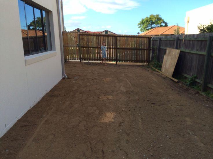 Block levelled. Side fences and gates up
