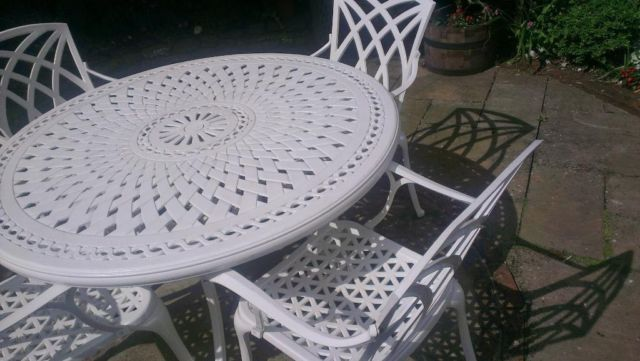 Cast Aluminium Garden Table And Chairs Clifton Bristol