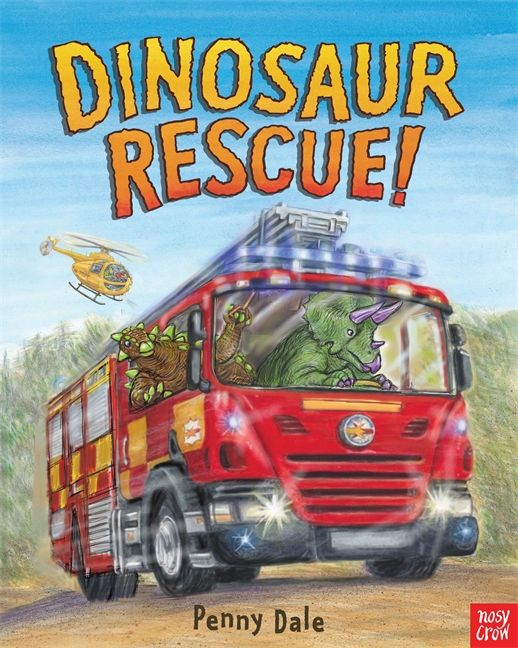 There's an emergency! Call the fire engines, ambulances, police cars — and the dinosaurs, of course! HC 9780763668297 / Ages 2-5
