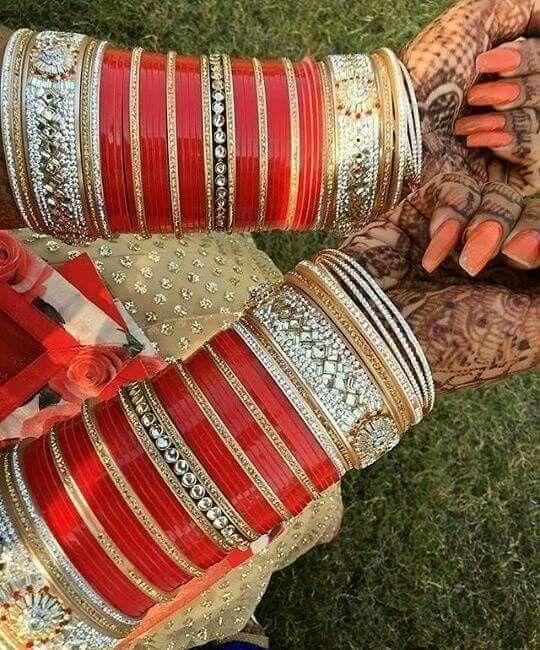 Beautiful wedding chura.