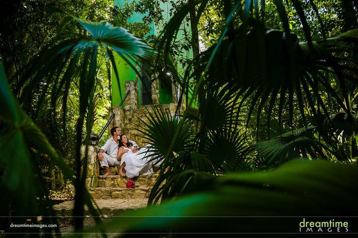 Cenote Road TTD session. Near Isla de la Pasión, Mexico.  http://dreamtimeimages.com/blog/passion-island-wedding-photography-isla-del-passion-mexico-kelly-jason/