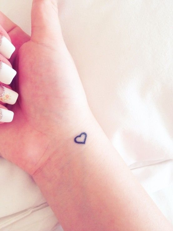 cute heart wrist tattoo (what I want but on the other hand)