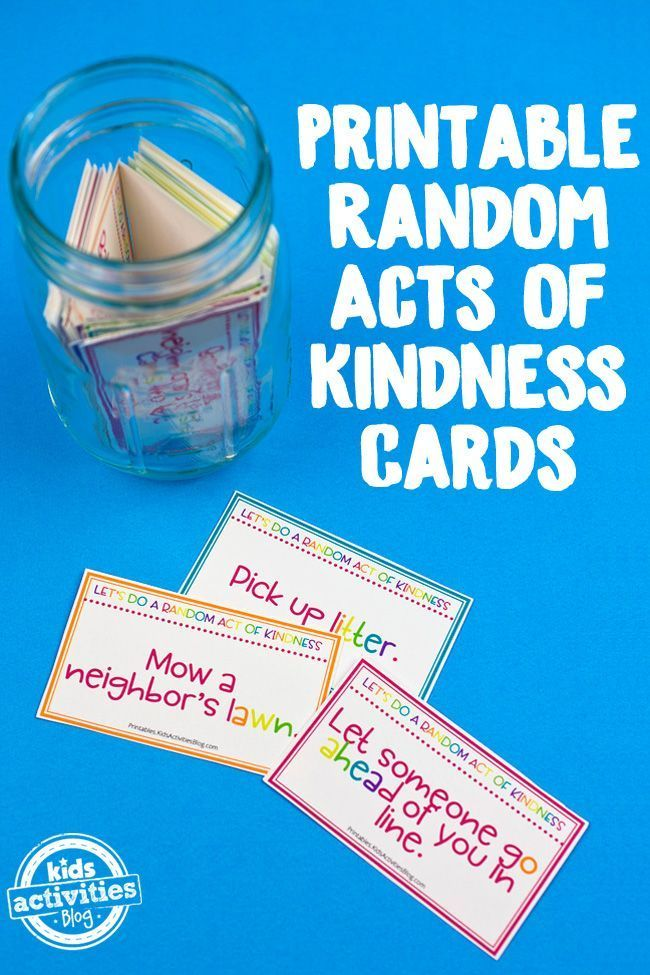 Printable Random Acts of Kindness Cards   100 Acts of
