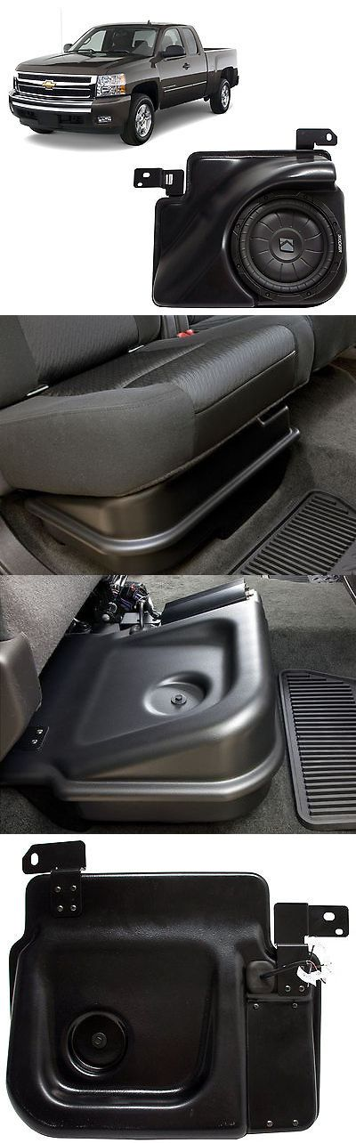 Speaker Sub Enclosures: 2007-2013 Chevy Silverado Ext Cab Truck Loaded Kicker 10 Sub Box Enclosure New -> BUY IT NOW ONLY: $99.99 on eBay!