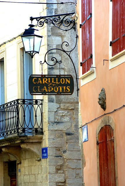 Carillon  Clapotis B  B sign in Forcalquier, Provence-Alpes-Côte d'Azur region, France