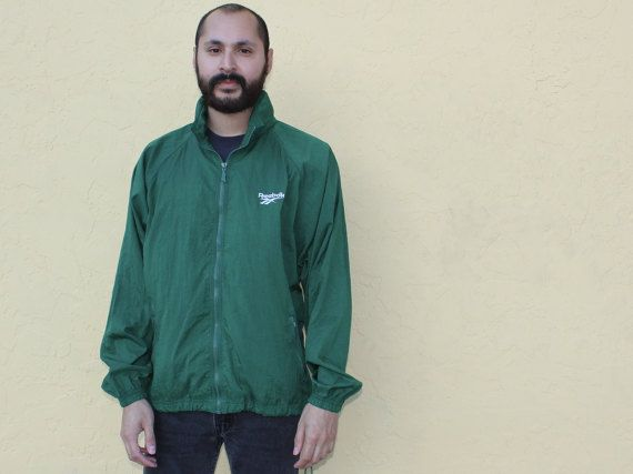 Reebok Green Zip Up Jacket Medium 90s Reebok Zip Up Nylon Jacket Reebok Jacket Medium 90s Minimal Zip Up Bright Green Jacker M Minimal by DiveVintage from Passport Vintage. Find it now at http://ift.tt/2jAY2XW!