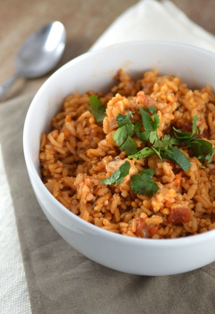 Healthy Mexican Chicken & Rice Bowl