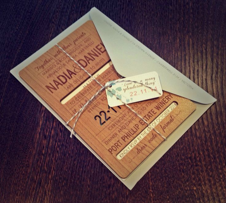 Modern winery wooden invitation set. Blue, coral and white colour scheme. Go to www.lovemytype.com.au