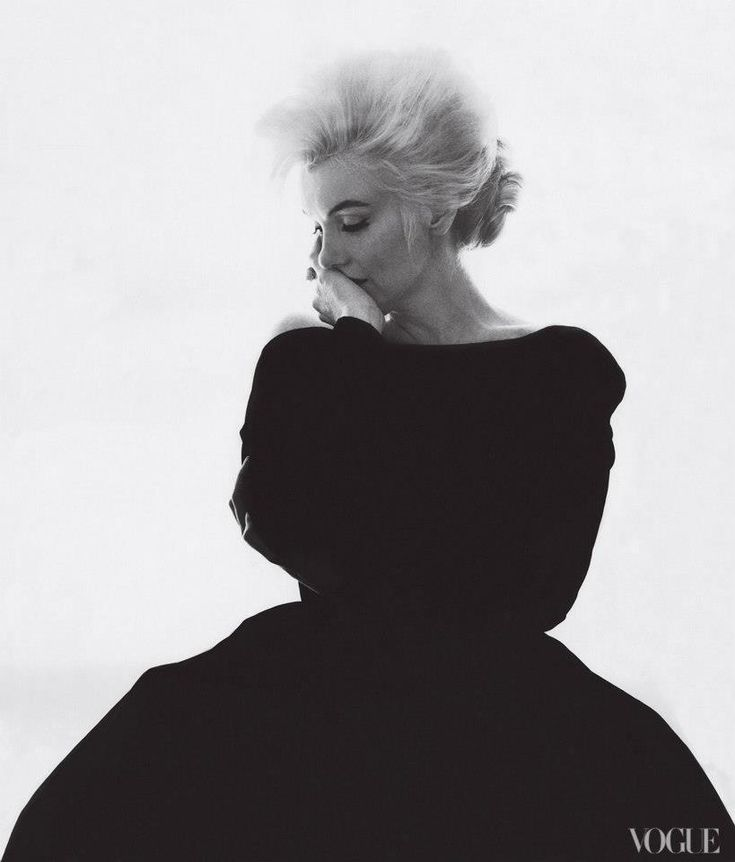 "via Vogue } ""In 1962, editor Babs Simpson dressed Marilyn Monroe in Christian Dior Haute Couture for Bert Stern's famous last portraits of the actress."""