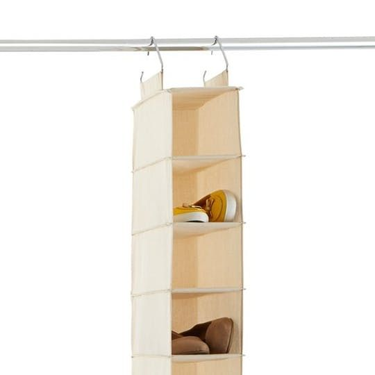 10-Compartment Canvas Hanging Shoe Organizer at The Container Store