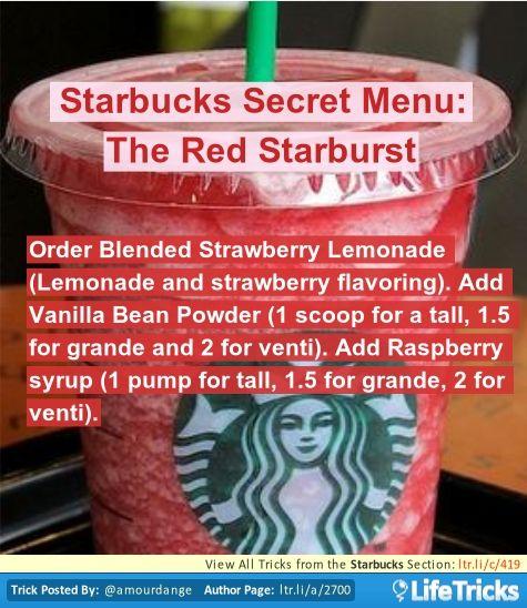 Starbucks Secret Menu: The Red Starburst