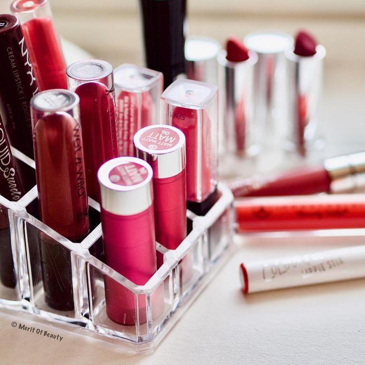"""97 tykkäystä, 4 kommenttia - Merit Lindén (@meritofbeauty) Instagramissa: """"Lipstick overload. I tend to wear just true red or nothing. #lipstick #liquidlipstick…"""""""