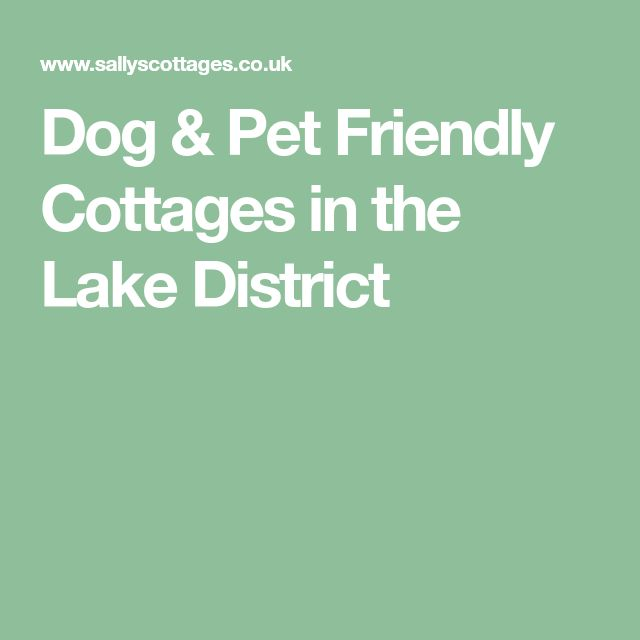 Dog & Pet Friendly Cottages in the Lake District