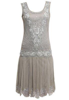 Frock & Frill Cocktail dress / Party dress - grey   Gatsby Flapper Bridesmaid Dresses via www.southboundbride.com #bridesmaiddresses #gatsby #artdeco #1920s #bridesmaid #wedding