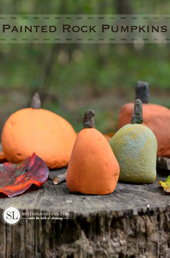 Painted Rock Pumpkins – fall kids pumpkin craft