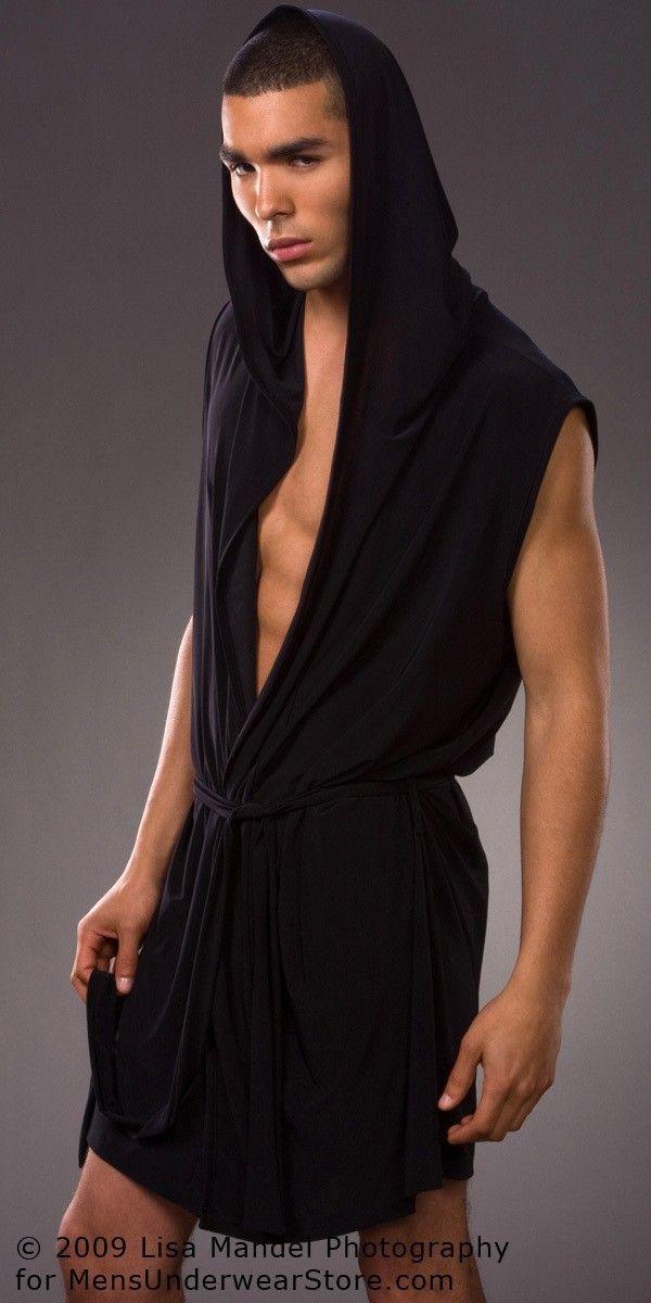 Bathrobe Mens Short Robes 2017 Hot Mens Black Robe Gay Japanese Robe Men White