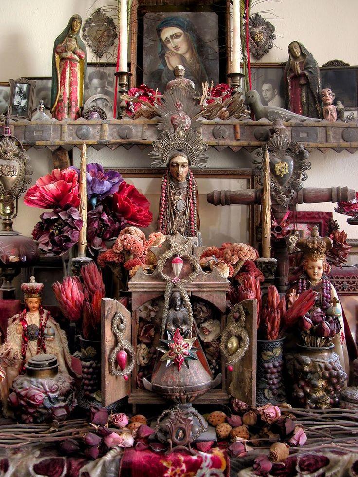 Goddess altar: Bohemian Interiors, Altered, Religious Art, Shrine, Folk Art, Icons, Folkart, Altars, Interiors Alchemy