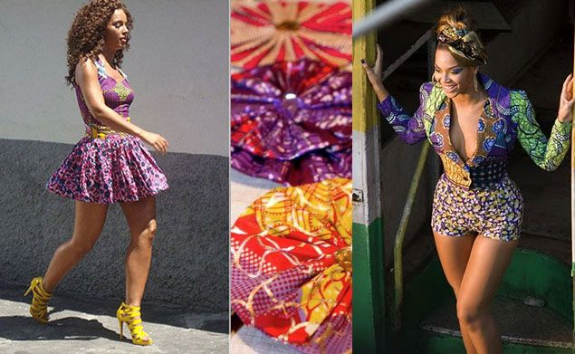 Alicia keys and beyonce celebrities wearing african for Fashion fabrics
