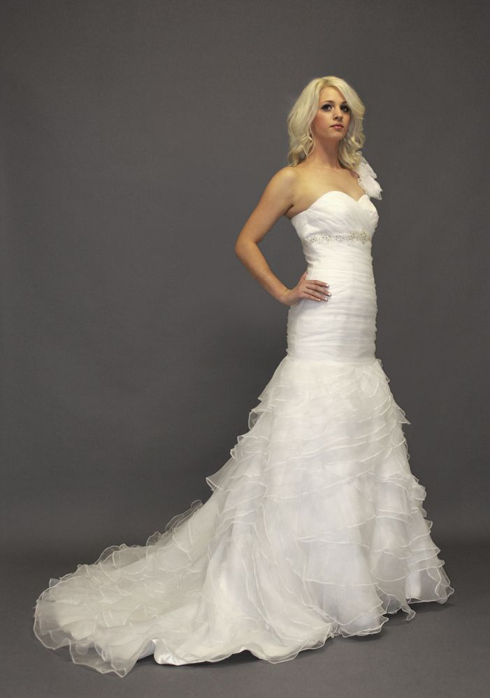 Custom made organza mermaid wedding dress