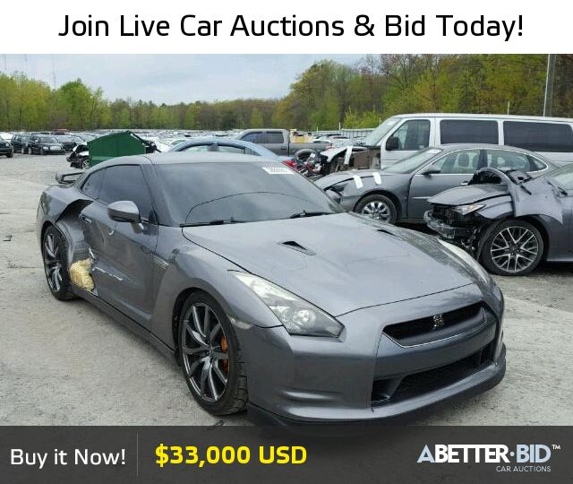 Salvage  2009 NISSAN GTR for Sale - JN1AR54F69M251930 - https://abetter.bid/en/28866907-2009-nissan-gt-r--premi