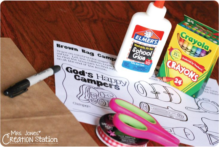 This week I am sharing some fun activities from my God's Happy Campers unit that teaches little learners the story of the Good Samaritan.  Let's begin with the lesson's craft…  For this Bible lesson we prepared our craft at the beginning of the class.  Every camper made a backpack and filled it with supplies to …