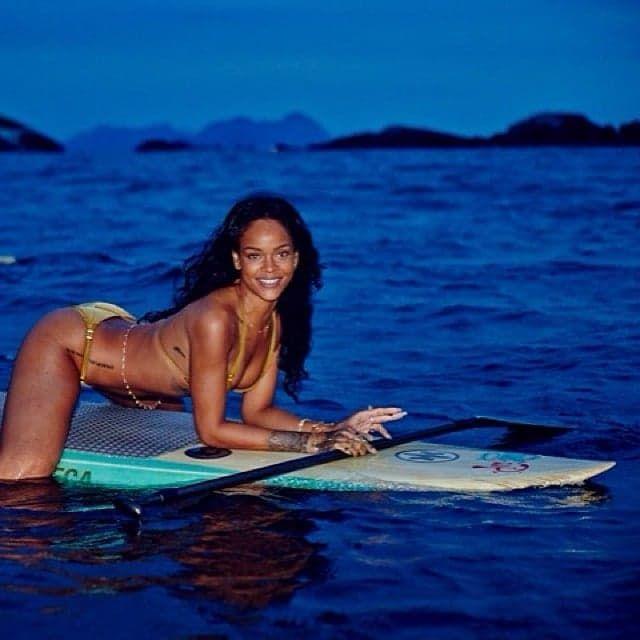 Rihanna's Bikini Photo Shoot Takes a Topless Turn