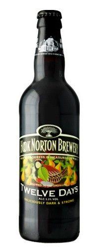 Cerveja Hook Norton Twelve Days, estilo American Brown Ale, produzida por Hook Norton Brewery, Inglaterra. 5.5% ABV de álcool.