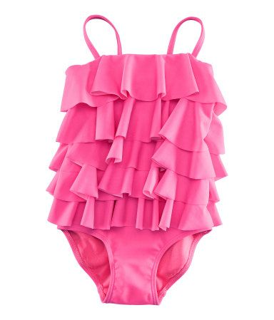 pink (or yellow) and ruffles?! adorable H&M little girl swimsuit