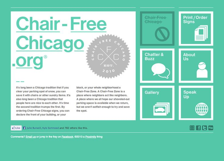CHAIR-FREE CHICAGO, by thisisstatic