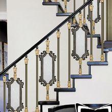 Старинный дизайн роскошный алюминиевый лестничные перила, Цвет-античная зеленый плакировкой забор(China (Mainland))