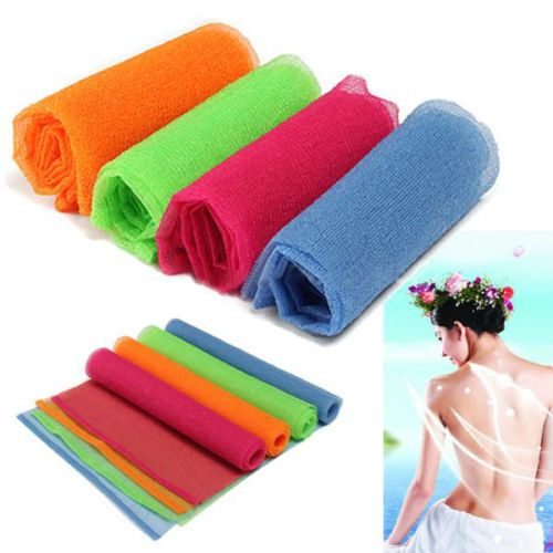 Hot Exfoliating Nylon Bath Shower Body Cleaning Washing Scrubbing Cloth Towel Styling Accessories