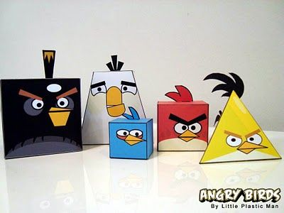 Why yes...these are Angry Birds nets! I can't imagine how much the kids would love these! [for teaching 3D figures]