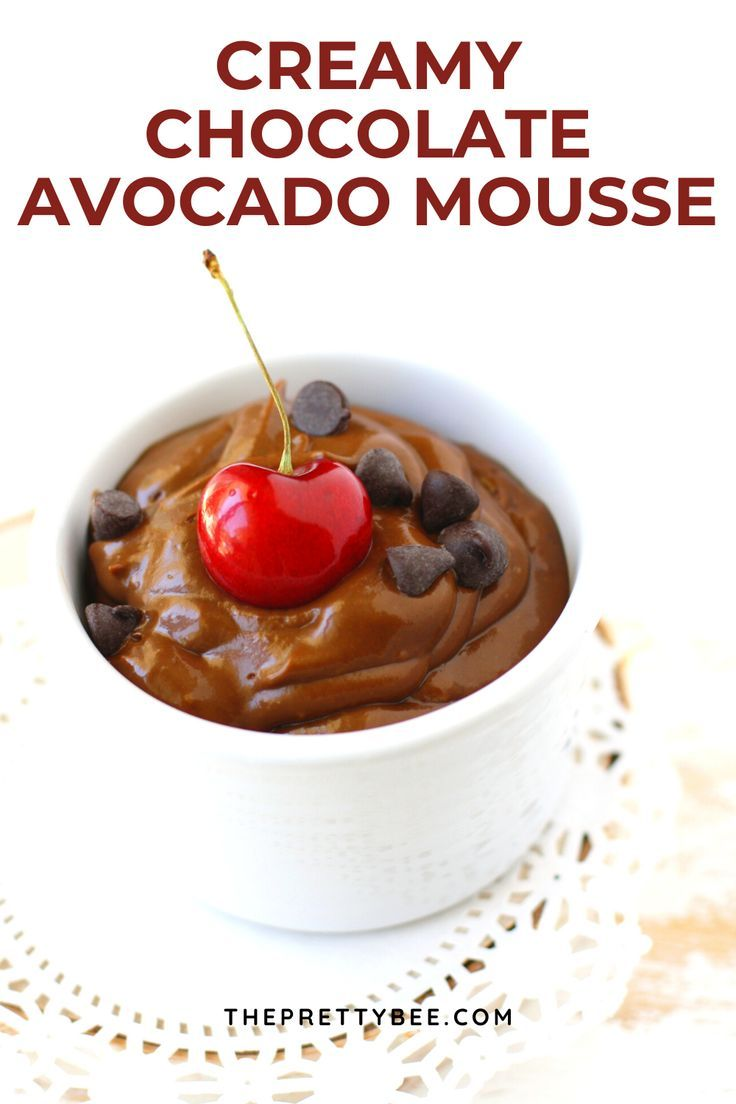 Cherry Chocolate Avocado Mousse Recipe Peanut Free Foods