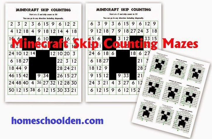 Minecraft Math Worksheets