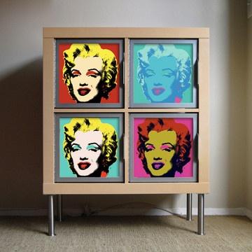 Rekordit Frames 2 Pack $85 - album frames turn into doors for IKEA Expedit bookcases