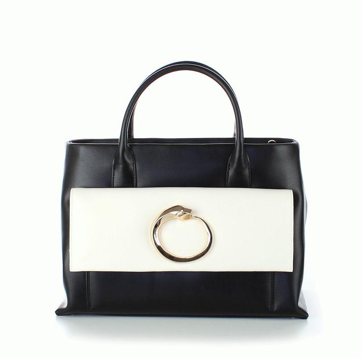 roberto cavalli CLASS - Handtasche, schwarz-weiß