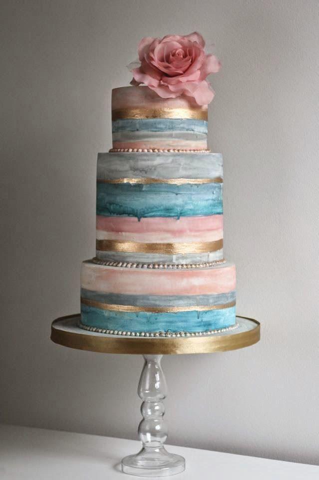 Tendência para bolos de casamento 2015, bolos com cores suaves, bolos de casamento 2015 em tons pastéis