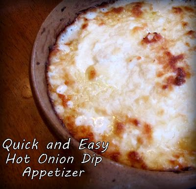 Quick and Easy Hot Onion Dip Appetizer.  ONLY 4 INGREDIENTS!