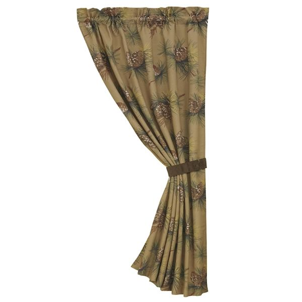 Crestwood Pinecone Curtain and Valances | Lodge, Western, Southwest and Southwestern Comforter Sets | PaulsHomeFashions.com