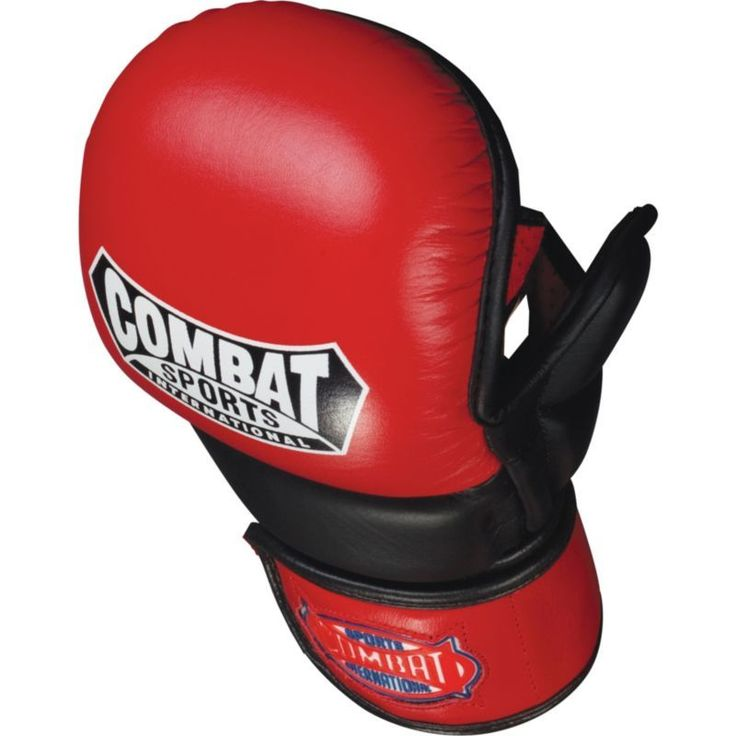 Combat Sports MMA Safety Sparring Gloves, Red